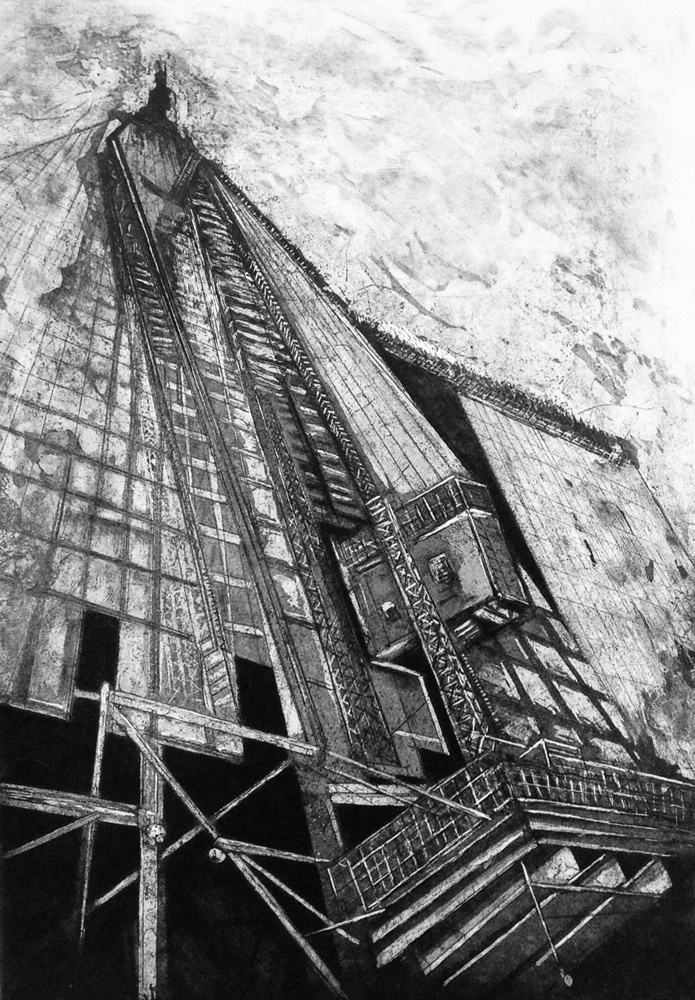 """The Shard Under Construction"" - Etching"