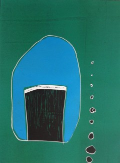 Pint of larger and a Packet of Crisps - Reduction woodblock. 76x56cm