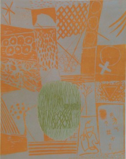 If at all (orange), Woodcut