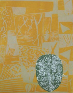 If at all (yellow), Woodcut