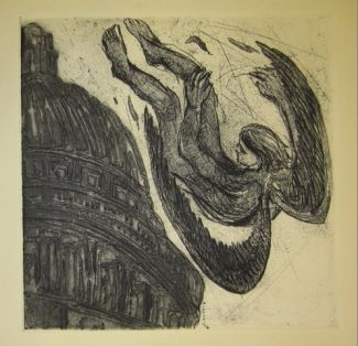 Icarus: Etching by AnnaAlcock