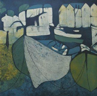 Figure by a Weir - Helen Baines