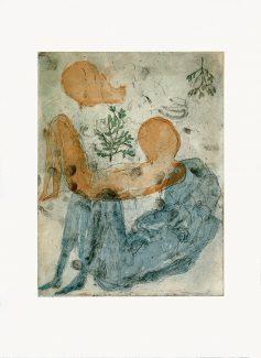 Il Risveglio, 2018, four colours multi plate etching, 48x38 cm