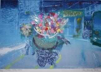 Flower seller, Hanoi - Ros Morley